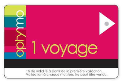 ticket 1 voyage optymo pour les services de transport dans le territoire de Belfort